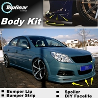 Bumper Lip Deflector Lips For Opel Vectra A / B / C / D Front Spoiler Skirt For TopGear Friends Car View Tune / Body Kit Strip