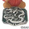 Vaqueros cinturón de hebilla de metal del dragón 3d diy marca de lujo del diseñador del mens de plata hebilla de cinturón regalo de año nuevo
