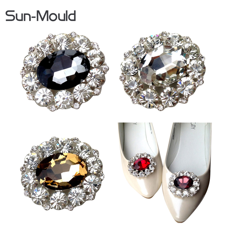 Fashion crystal rhinestone shoe flower charms clip gem women's shoes accessories wedding shoes decoration 1pair free shipping bow shoes clips decorative shop shoe accessories shoe clip crystal rhinestones charm material n2287