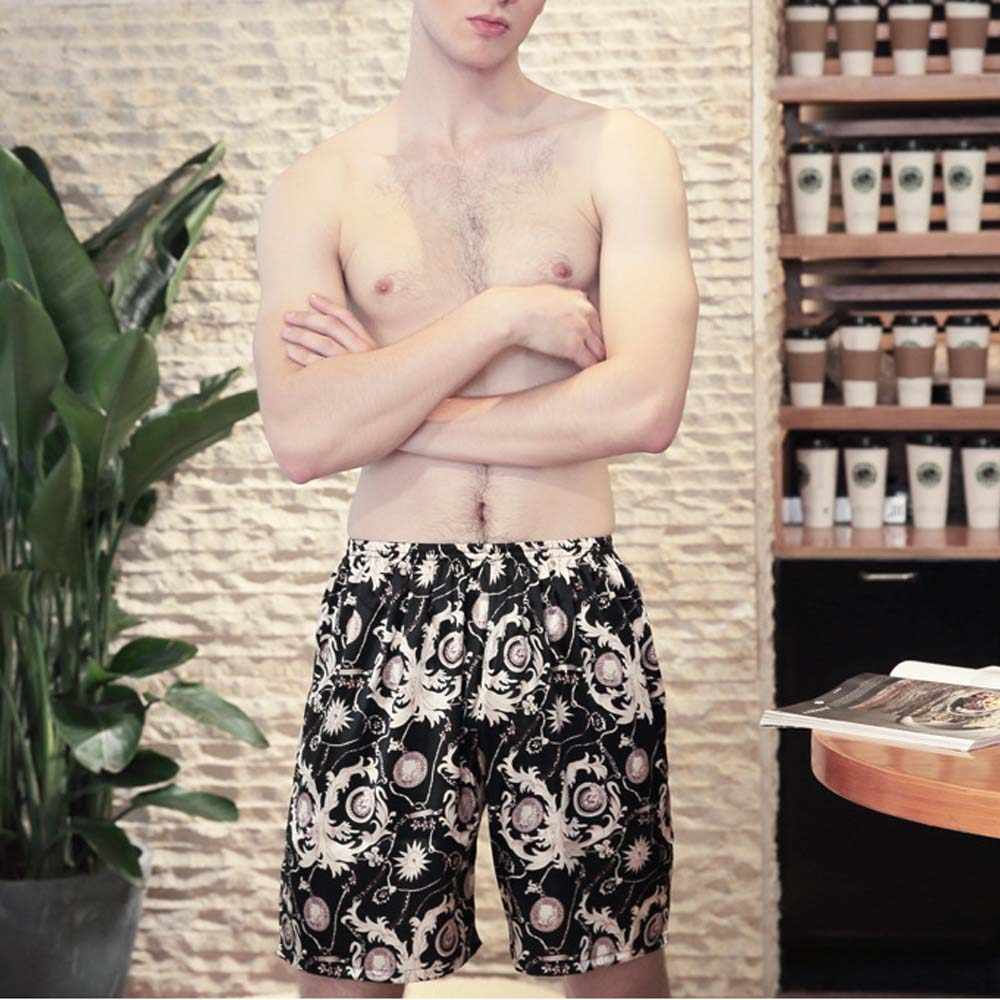 2073cc1aea ... HOT New Summer Mens Satin Shorts Pyjama Underwear Sleepwear Boxer Pajama  homme Nightwear Sleeping Trousers Pijamas ...