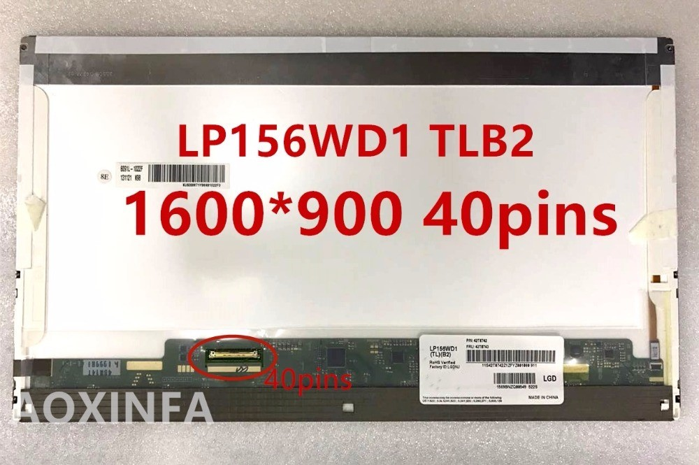 15.6'' laptop lcd screen LTN156KT02 LTN156KT04 LP156WD1 B156RW01 for E6520 and E6530 notebook led display 1600*900 40pin