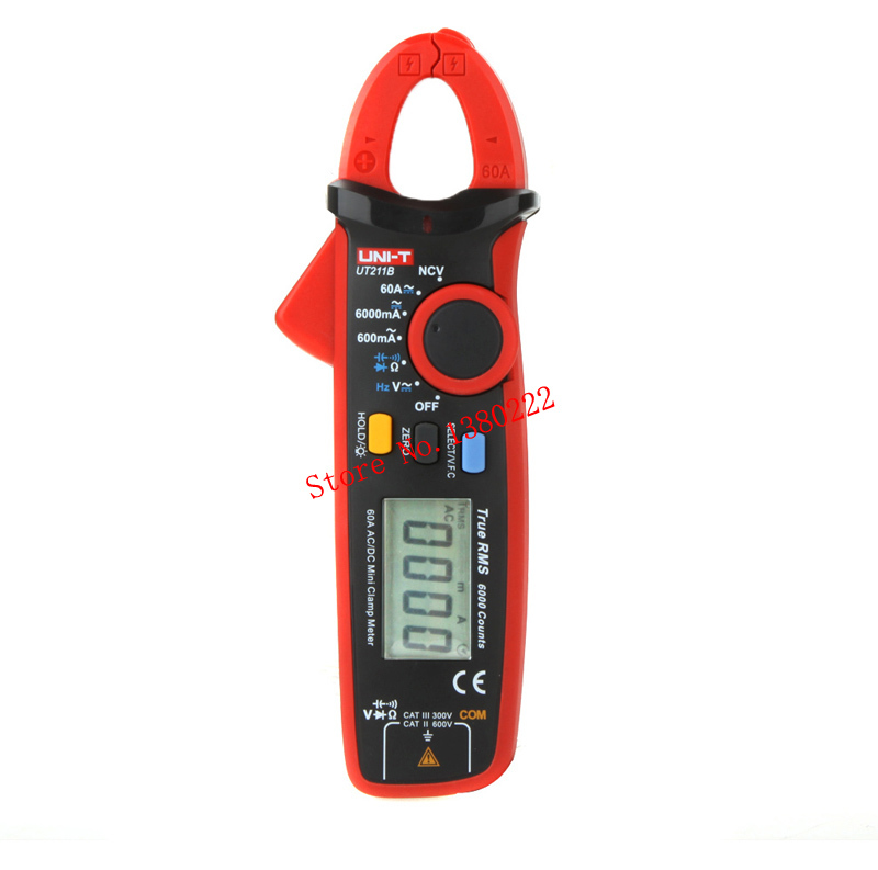 UNI-T UT211B 6000 Counts  Digital Multimeter True RMS high precision Mini Clamp Meters Auto Range V.F.C. NCV Capacitance my68 handheld auto range digital multimeter dmm w capacitance frequency