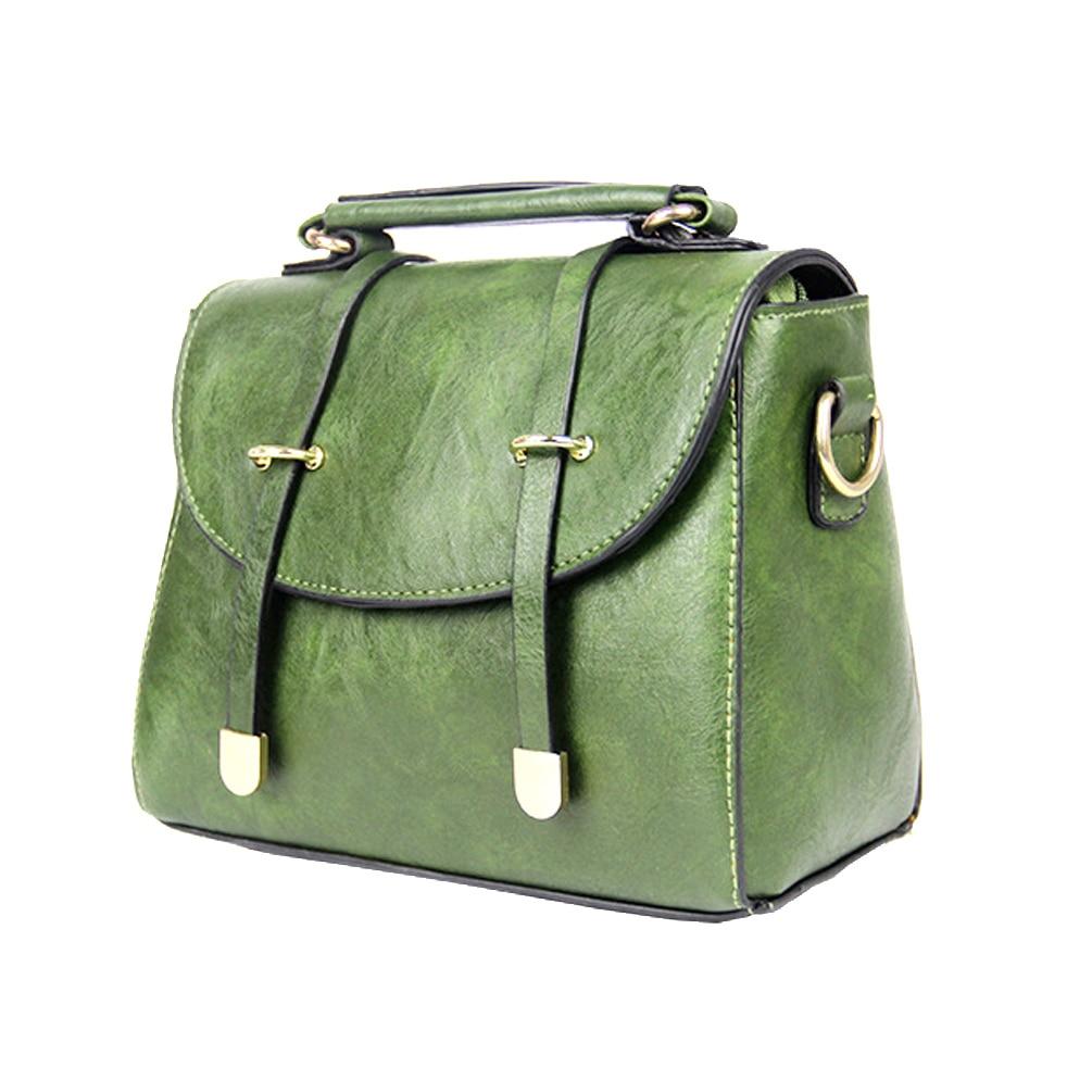 Vbiger Women Handbags Top Handle Shoulder Bag PU Leather Cross-body Bag Trendy Messenger Bag Detachable Shoulder Strap