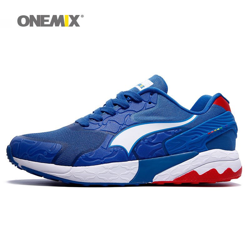 ФОТО onemix men's walking outdoor sneaker classic running shoes for men trainers breathable sports shoes size EU39-45