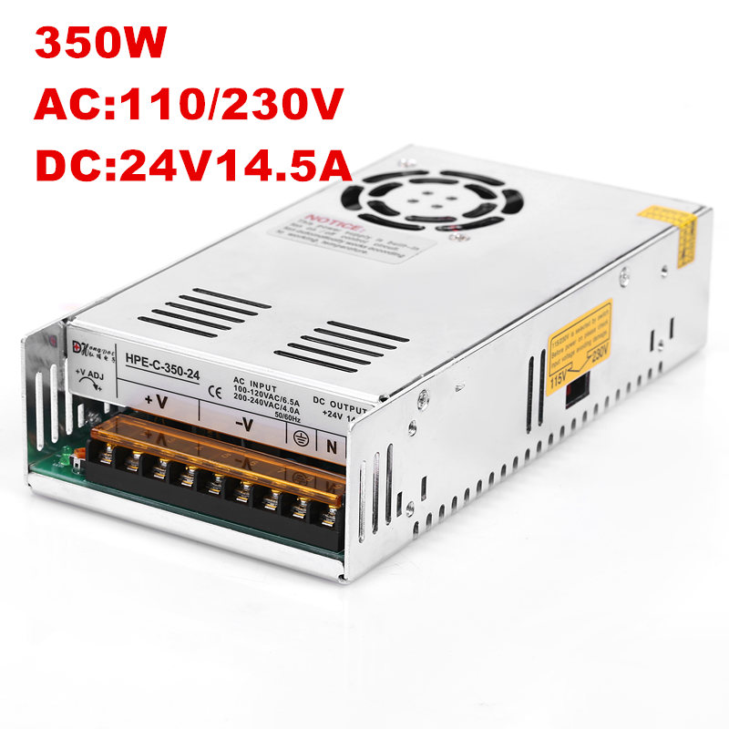 20PCS Industrial grade 350w 24V14.6A switching power supply 24V 14.6A AC-DC 100-240VAC S-350-2420PCS Industrial grade 350w 24V14.6A switching power supply 24V 14.6A AC-DC 100-240VAC S-350-24