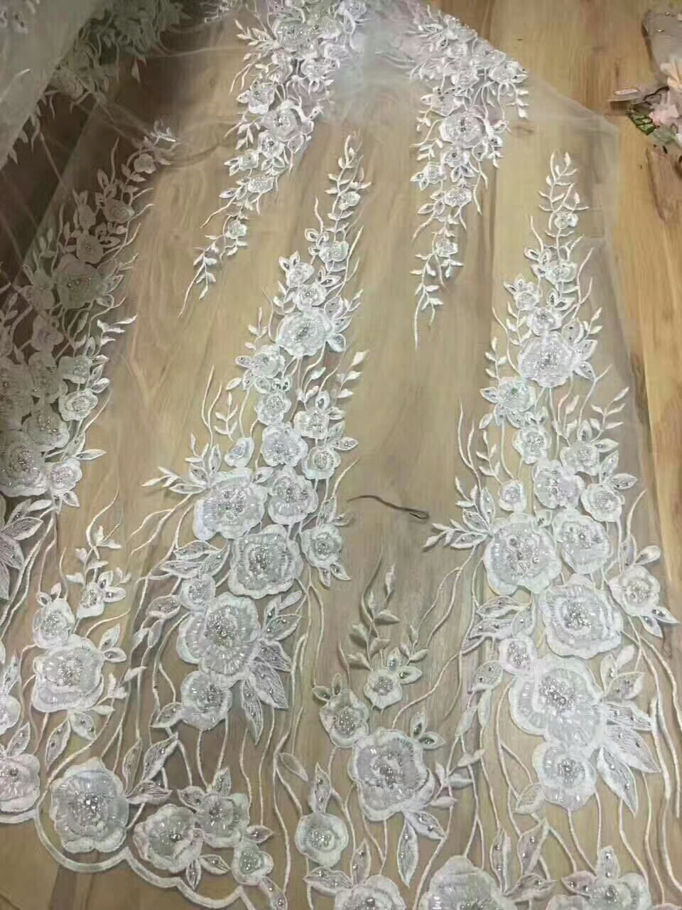 Ebay Motors White Beaded Appliqued Lace Fabric High Quality Latest African Lace 2018 Noble Handmade 3d Lace Fabric For Nigerian Party Fxa7 Parts & Accessories