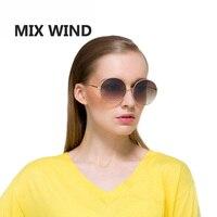MIX WIND 2017 Metal Retro Round Frame Sunglasses Fashion Oversized Womens Sunglasses UV400 Sunglass Summer 5