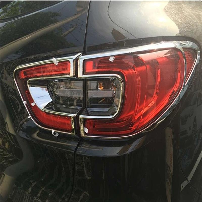 Auto ABS Chrome Rear Tail Light Lamp Taillight Cover Trim Frame Sticker Fit For Renault Kadjar 2016 Car Accessories 4pcs/set hot car abs chrome carbon fiber rear door wing tail spoiler frame plate trim for honda civic 10th sedan 2016 2017 2018 1pcs