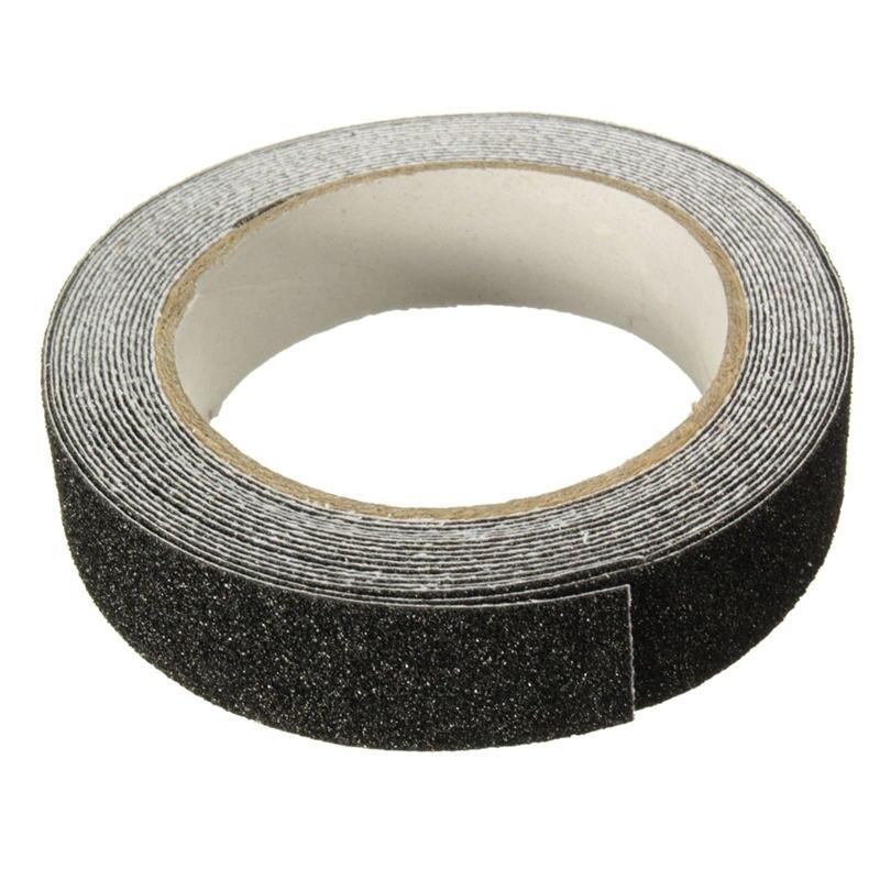 NEW 5m X 2.5cm Black Roll Safety Anti-slip Tape Non Skid Safe Grit Tape Grip Sticker Warning Tape