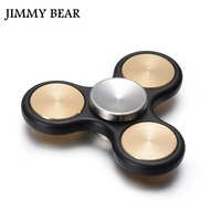 JIMMY BEAR 1 Pcs Fingertip Gyros Tri Spinner Fidget Toy EDC Hand Spinner For Autism And