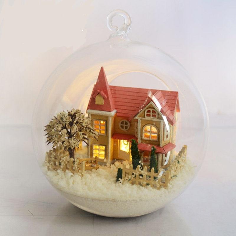 Flight Tracker Hot Diy Glassball Birthday/valentine/christmas Gifts Miniature Furnitures Model Kits 3d Assemble Toys Creative Diary Dollhouse Model Building