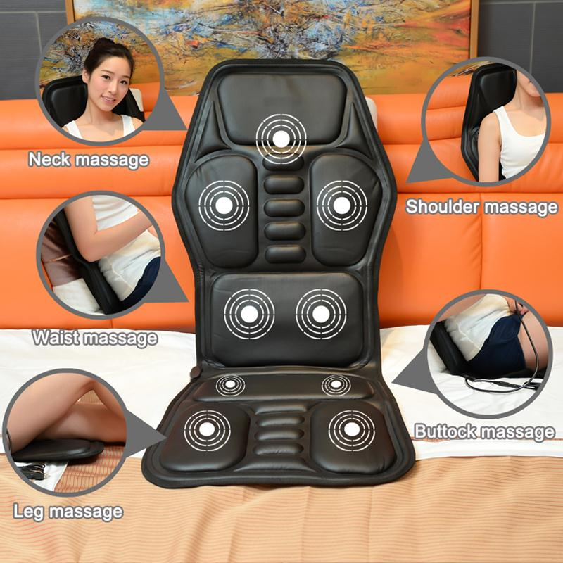 Heated Seat Cushion Car Massage Pad Auto Home Office Full-Body Neck Waist Relaxation Multifunction Pad Car Interior Accessories