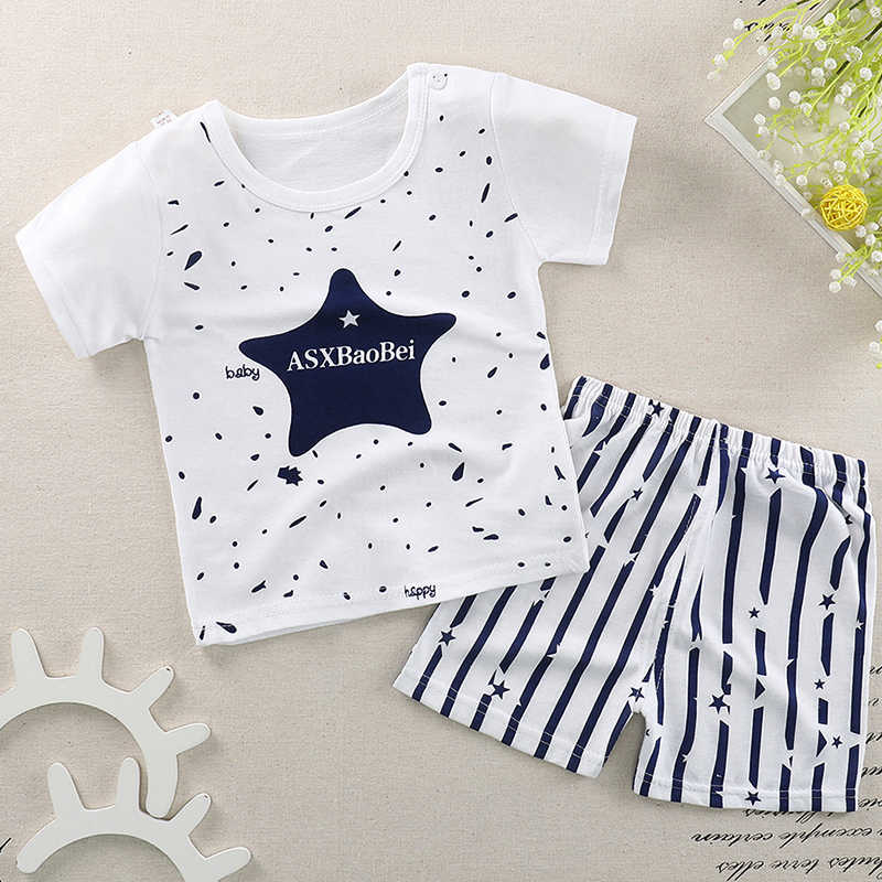 68a6ae0cafc9e Summer Baby Boys Girls Clothes Suits 2018 New Cartoon Boys Clothes T-shirts  Shorts Children Clothing Set Cotton Kids Outfits