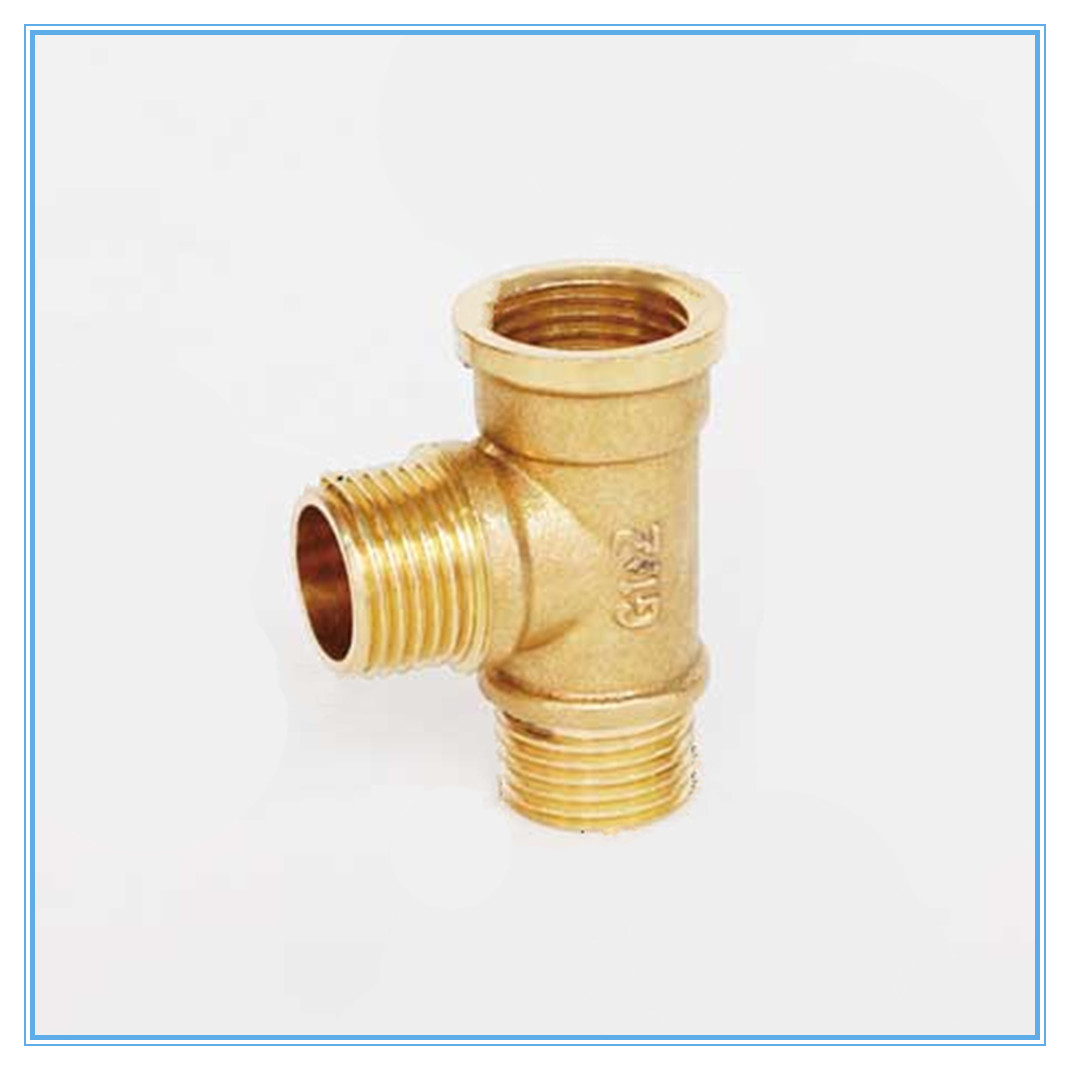 Brass Fittings Male To Male To Female 1/8