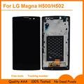 Para lg magna h500f h502f h500r h500n h500 h502 y90 pantalla lcd + el panel de tacto de cristal digitalizador + frame de la asamblea