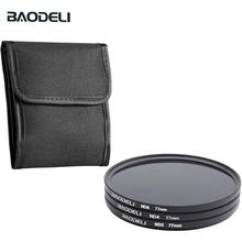 BAODELI Dslr Mrc Filtro One Set Concept Nd 2 4 8 Lens Filter 49 52 55 58 62 67 72 77 82 mm For Cannon Nikon Sony Accessories