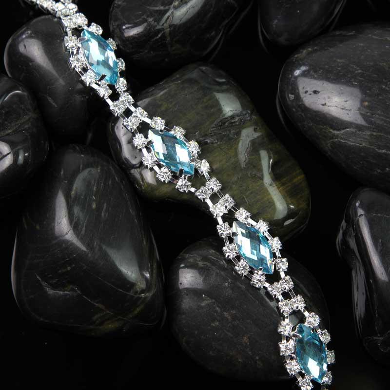 10 ярдов горный хрусталь цепь пришить на кристалл горный хрусталь Алмазная отделка для вечерние свадебные украшения