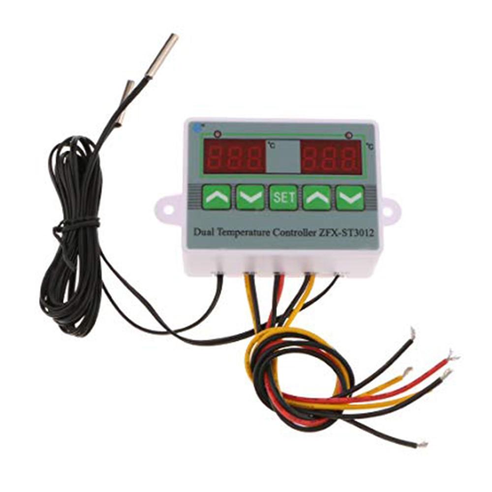 Incubator Intelligent Controller Dual Digital Thermostat Microcomputer Temperature