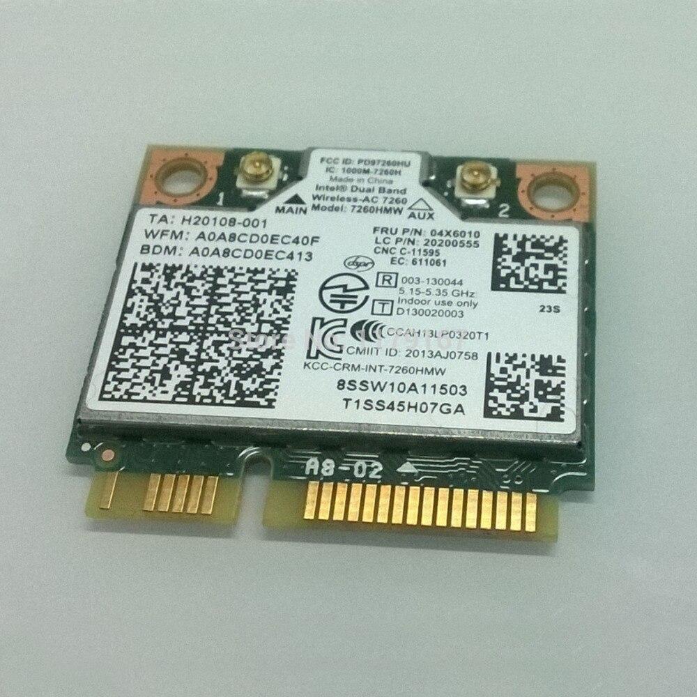 Int inalámbrica de banda Dual 7260AC 7260HMW 802.11b/g/n/ac y BT4.0 tarjeta para Lenovo Thinkpad S540 E540 serie FRU 04x6010x20200555