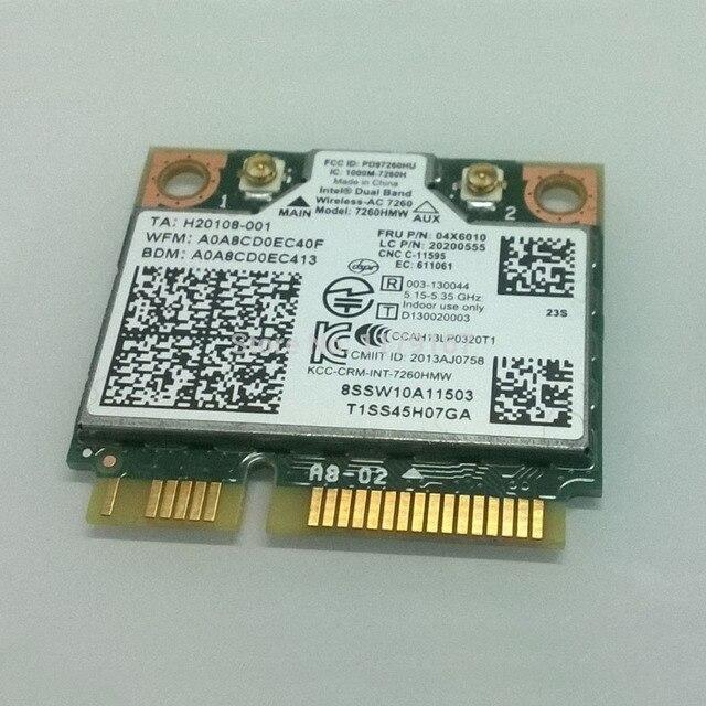 Intel Dual Band Wireless 7260AC 7260HMW 802.11b/g/n/ac & BT4.0 Карты Для Lenovo Thinkpad S540 E540, FRU 04x6010 20200555