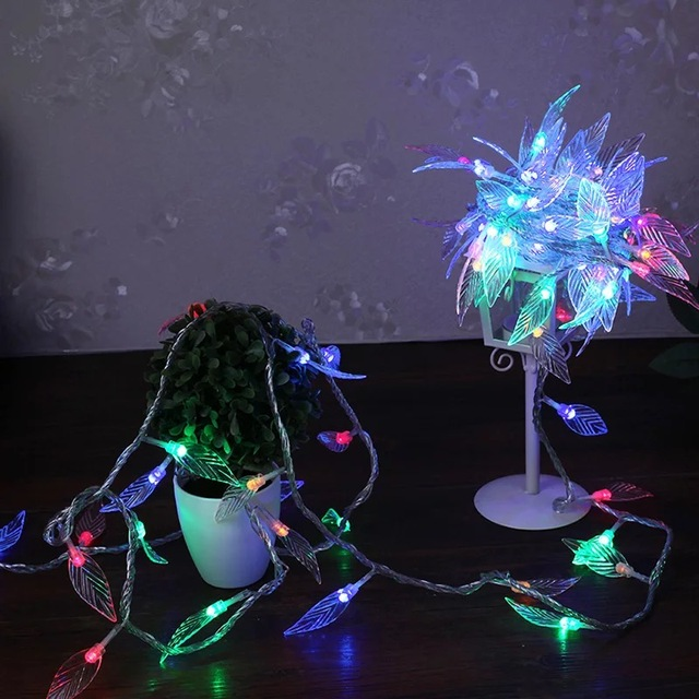 Genial 10M 100 LED Tree Leaves LED Lamp String Lights Decorative Lights For Bedroom  Wedding Party Garland