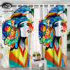 Aztec by Pixie Cold Art Living Room Curtain Watercolor Blackout Window Curtains for Bedroom Girls Women Colorful Drapes 1pc 1