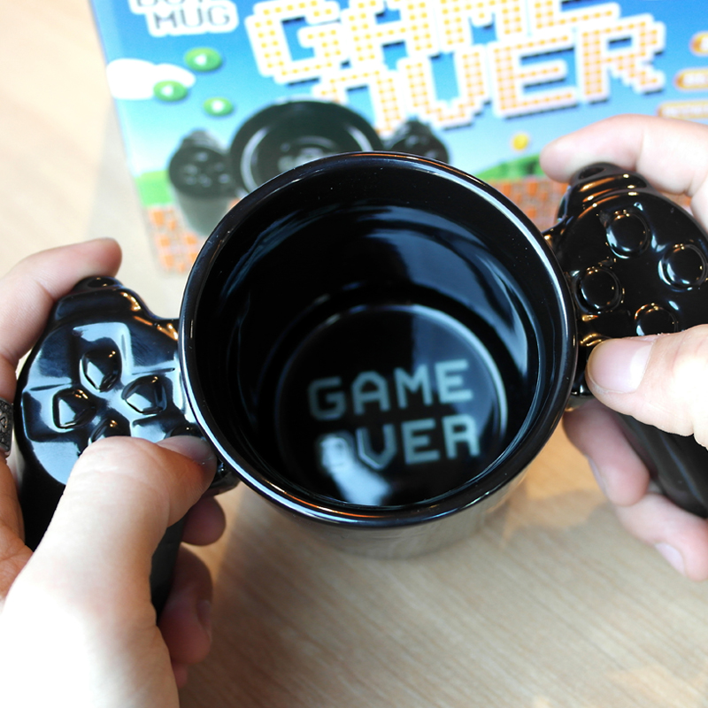 1Pcs Creative handle Game Over mug personalized shape coffee milk Boy Game Over cup Gamepad Controller
