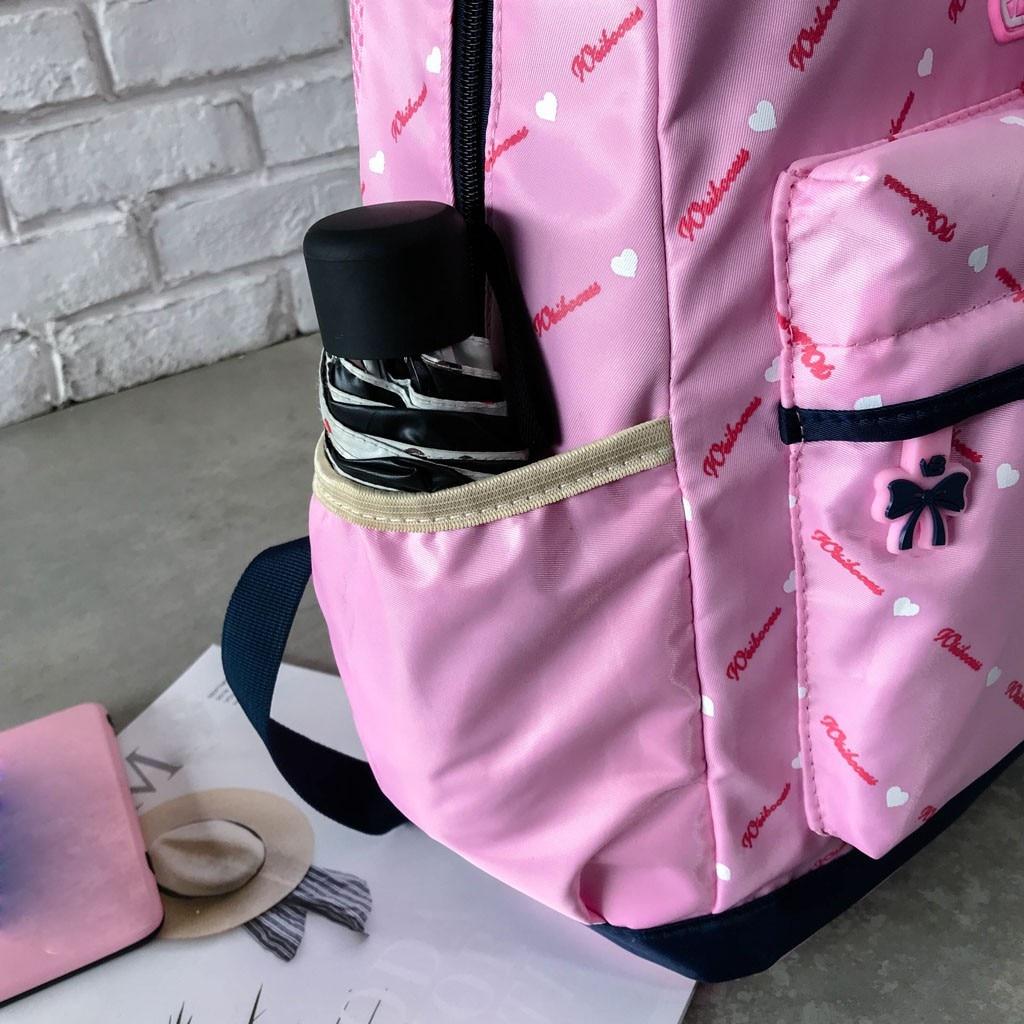 Women Bow Canvas Three-piece School Bag 41