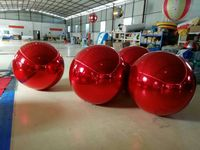 Promotion 0.8M Red Inflatable Mirror Ball / Inflatable Advertising Ball For Christmas Decoration
