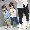 2016 nuevas muchachas Coreanas pantalones bebé primavera sección ocio deportes otoño Haren pantalones