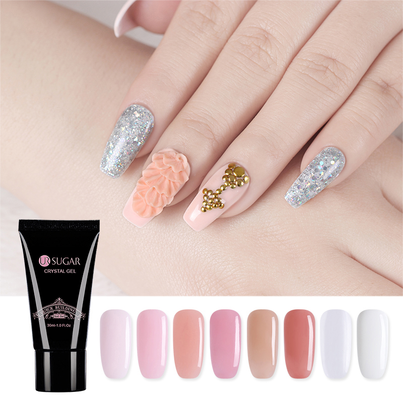 UR SUGAR UV Quick Builder Poly Gel Nail Extension Varnish Acrylic ...