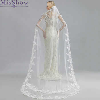 Wedding Accessories 2019 Appliques Tulle Long 3 M Cathedral Long Wedding Veil Lace Edge Bridal Veil with Comb veu de noiva longo - DISCOUNT ITEM  48% OFF All Category