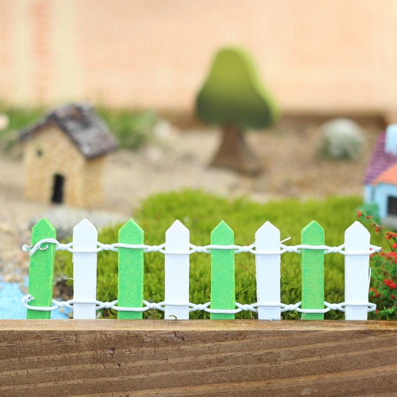 90cm Handmade Wood Fence Palisade Miniature Garden Home Houses