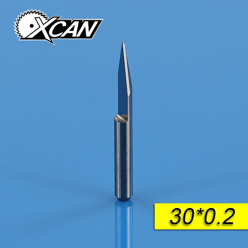 XCAN 10Pcs 3.175mm CNC Router Tool 30 Degree 0.2mm Machine Accessories  Tungsten Steel V Shape Carbide PCB Engraving Bits hot sale tungsten steel 10pcs 3 175mm carbide pcb engraving bits cnc router tool 30 degree 0 1mm