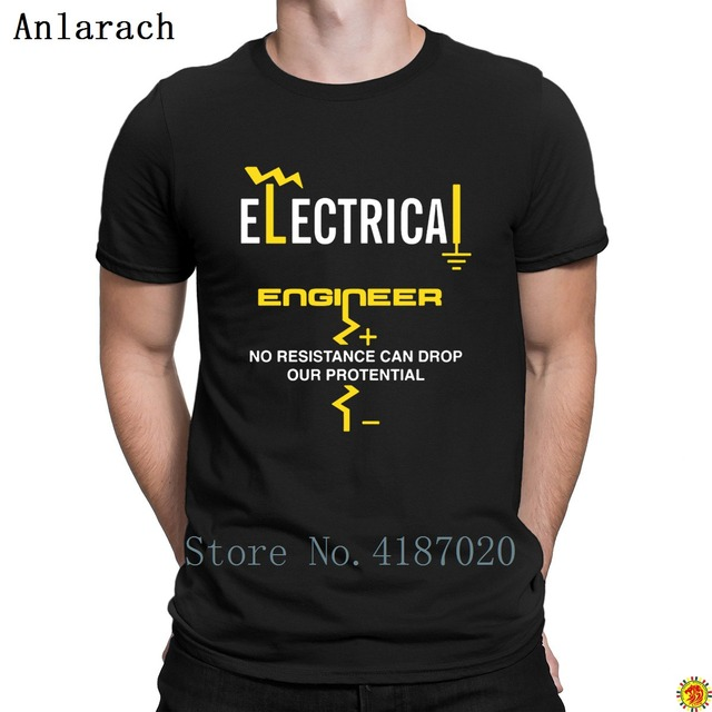 f44990b805de Electrical Engineer T-Shirts Cheap Nice Formal Custom T Shirt For Men Round  Collar Clothes Summer Quirky