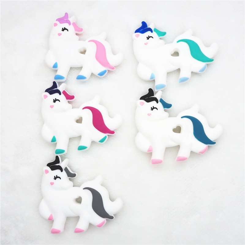Chengkai 5PCS BPA Free Silicone Unicorn Teether Baby
