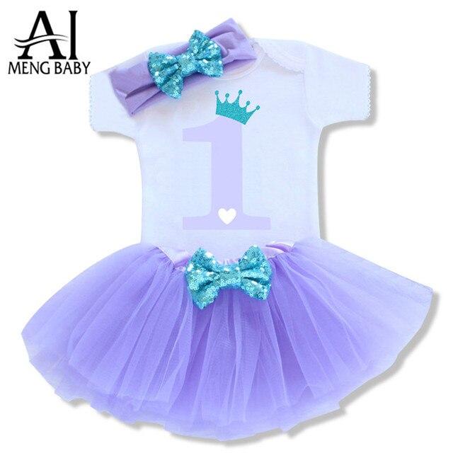 9b034b4a5 Ai Meng Baby Girl Baptism Clothes Toddler Kid 1st Birthday Holiday ...