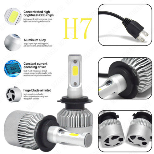 H4 H7 H11 H1 H13 H3 9004 9005 9006 9007 9012 COB LED Car Headlight Bulb Hi-Lo Beam 72W 8000LM 6500K Auto Headlamp 12v 24v h4 car led headlight kit diamond h4 h13 9004 9007 hi lo beam headlight auto front bulbs 6000k 12v car lighting replacement bulbs