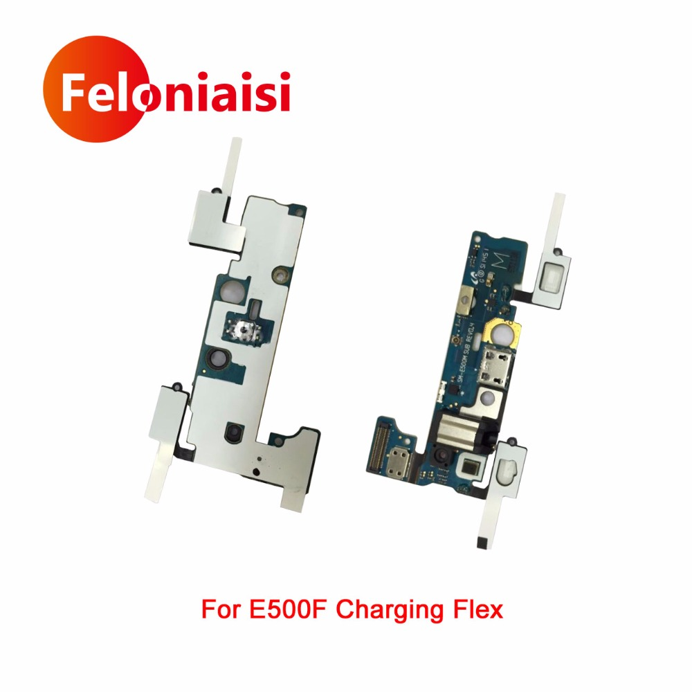 For Samsung Galaxy E5 E500F E500M E500H Charger Charging Flex Cable Headphone Audio Jack USB Port Dock Connector Flex Cable
