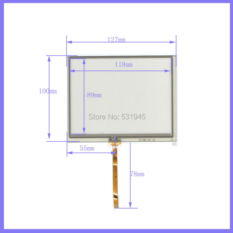 New 127mm 100mm original handwritten 5 6 inch used car and GPS 127 100 touch screen panel free shipping AT56 commercial use in Tablet LCDs Panels from Computer Office
