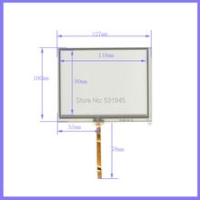 New 127mm*100mm original handwritten 5.6 inch  used car and GPS 127*100 touch screen panel free shipping  AT56  commercial use new 5 inch 4wire resistive touch panel digitizer screen for prestigio geovision 5200 5200bt gps free shipping