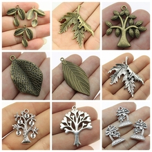 Mix Metal Leaf Charms Pendants For Jewelry Making Diy Craft Supplies Women