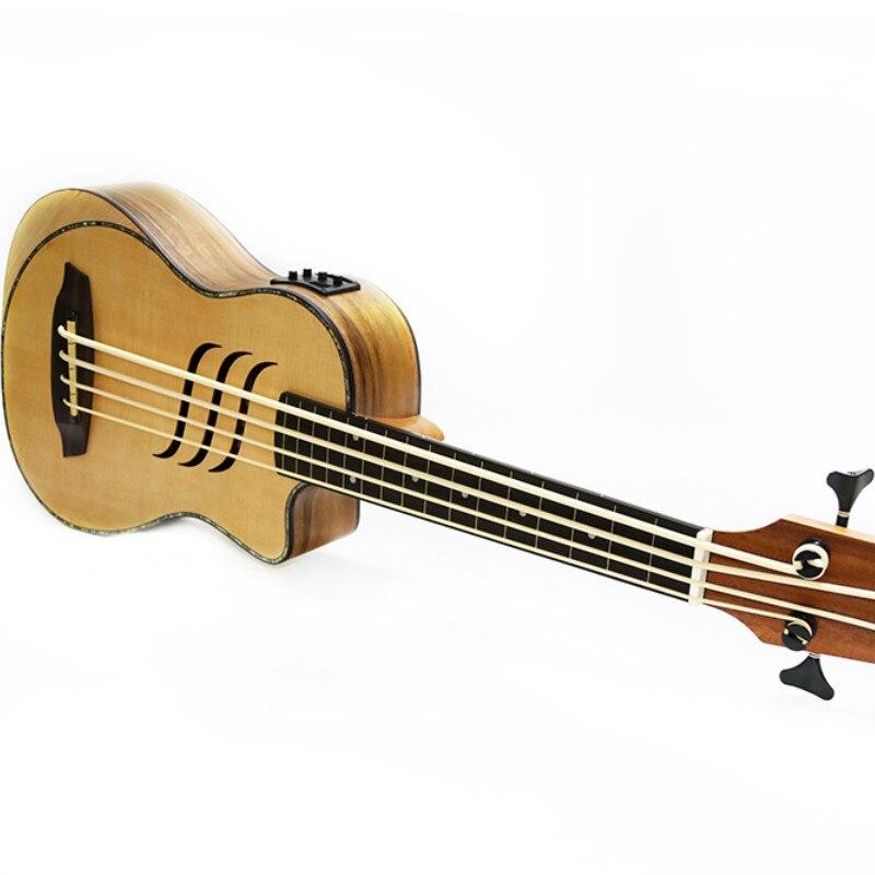 Guitare électrique 30 pouces Ubass 30 pouces 4 cordes Mini UKU guitare électro pick-up Sculpture - 6