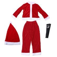 Los niños de la Navidad de Santa Claus Costume Set Cosplay trajes con  sombrero cinturón para niños (130 cm) c406631e826