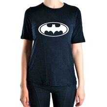 2016 Summer Cartoon Batman print casual t shirt Women funny brand tops harajuku tee  shirt punk femme black short t-shirt pp
