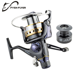 Image 2 - Fishing Reel Carp Spinning Reel J3FR Carbon Front and Rear Drags 18KG Drag 9+1 BB Metal Spool Double / Wooden Handles Available