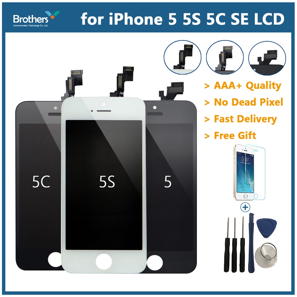 Für <font><b>iPhone</b></font> <font><b>5S</b></font> <font><b>LCD</b></font> <font><b>Display</b></font> Touch Digitizer für <font><b>iPhone</b></font> 5 <font><b>LCD</b></font> Bildschirm <font><b>iPhone</b></font> <font><b>5S</b></font> Handy Teile <font><b>Display</b></font> montage Für <font><b>iPhone</b></font> 5C SE image