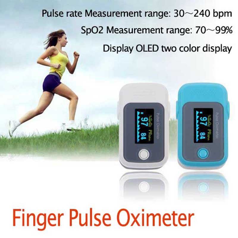 Finger Pulse Oximeter Fingertip Blood Oxygen SpO2 PR Heart Rate Monitor