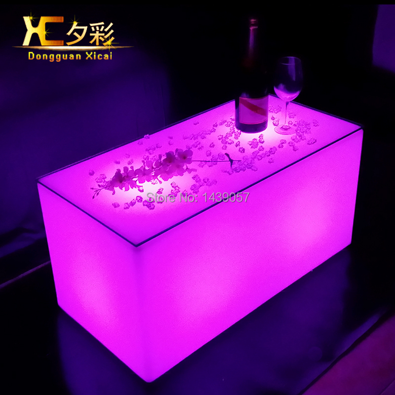 Plastic LED Bar Coffee Table Luminous Furniture Wine Club Party ...
