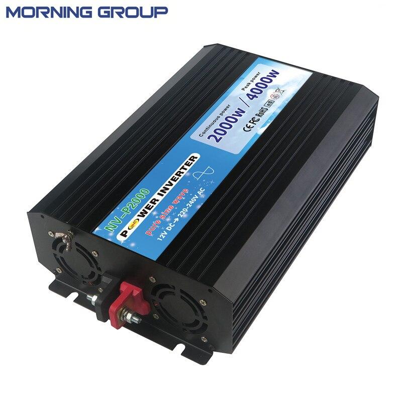 P2000 P Series Pure Sine Wave Inverter 2000W DC 12V 24V To Power Supply 110V 220V With 5V USB Output new lp2k series contactor lp2k06015 lp2k06015md lp2 k06015md 220v dc